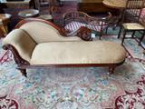 Victorian Australian red cedar chaise lounge