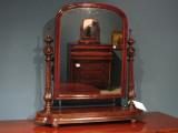 Solid mahogany swivel mirror