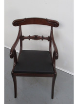 A Regency solid mahogany office carver chair