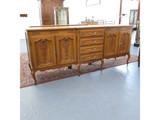 Unrestored long thin French 4 door 4 drawer French sideboard