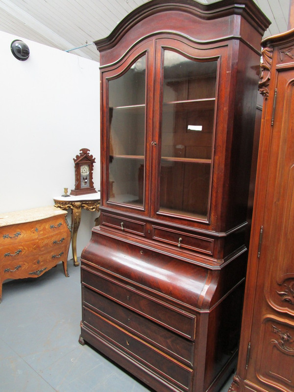 Rosewood secretaire bookcase unrestored condition