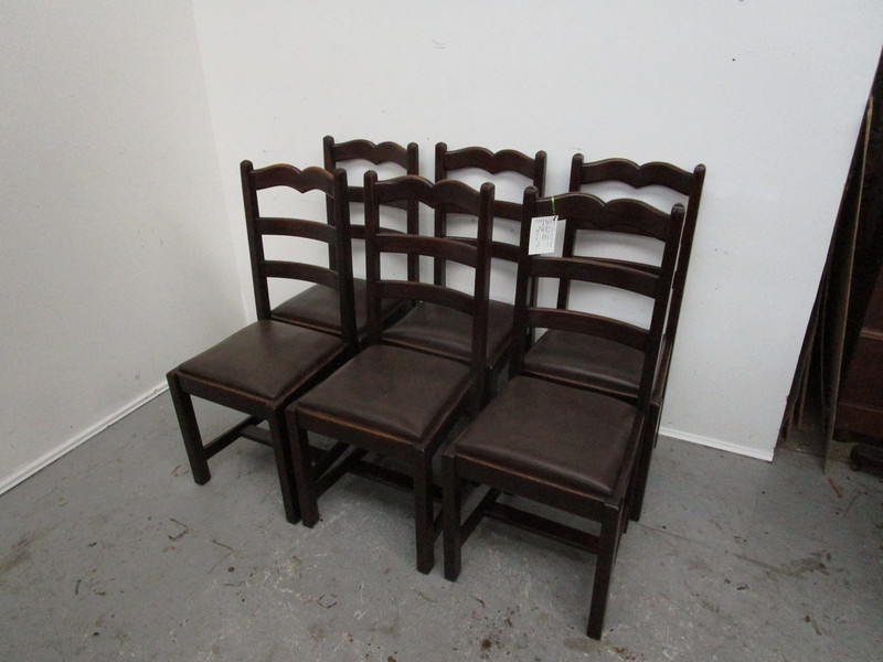 Set of 6 French country chairs
