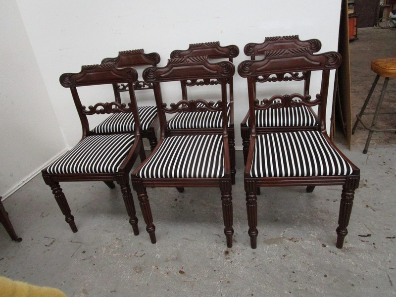 A set of Regency mahogany antique chairs