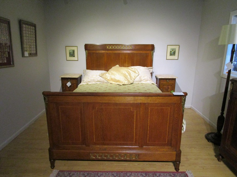Superb Queen Size antique French oak bed