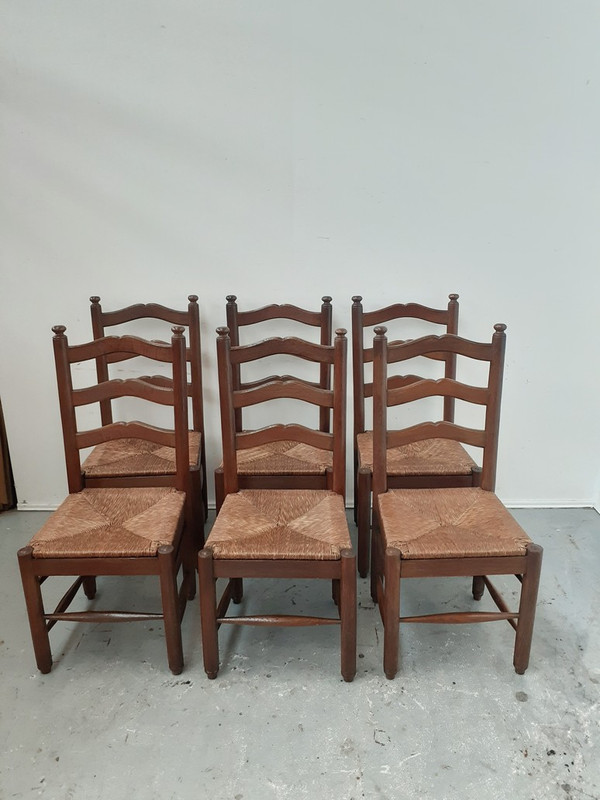 Magnificent quality French oak dining chairs