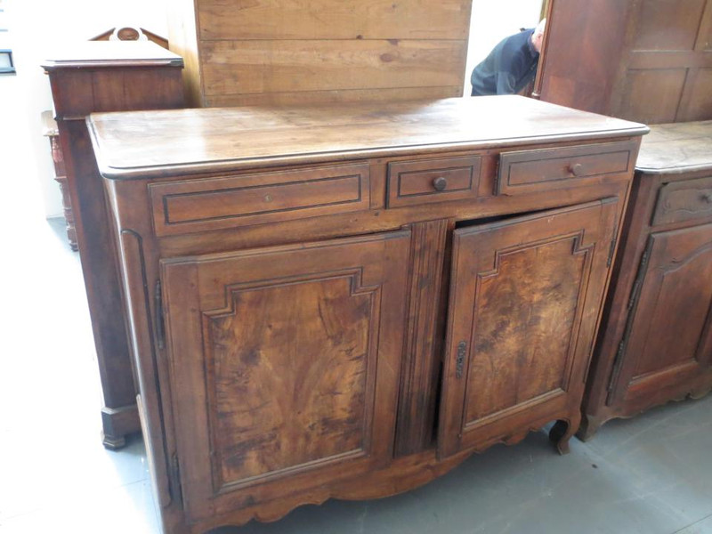 Unrestored tall two door sideboard