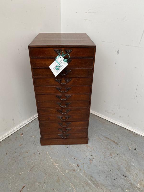 12 drawer Oak filing cabinet