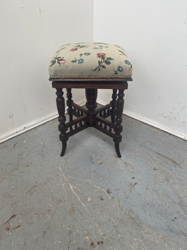 Blackwood Edwardian adjustable piano stool