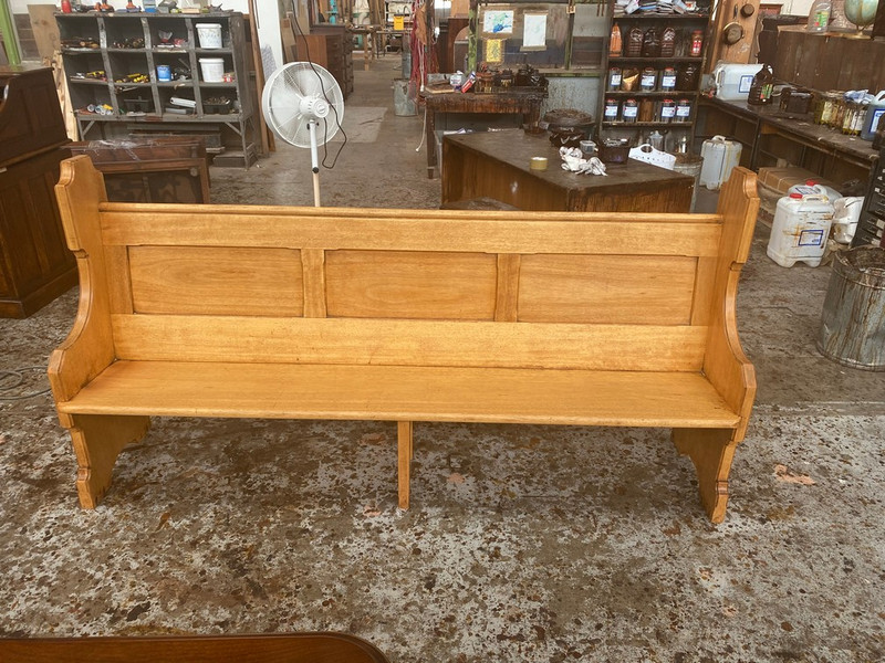 Quality Tasmanian oak church pew