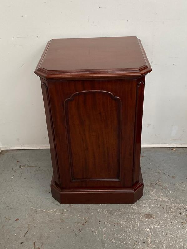 Large Victorian mahogany pedestal cupboard