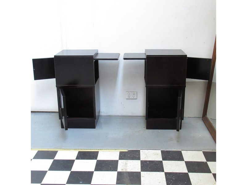 Pair of black bedsides