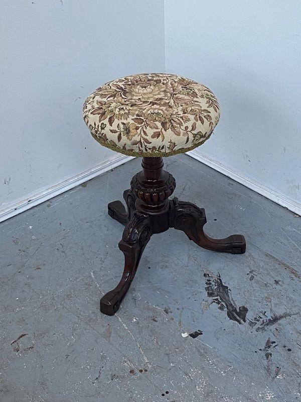 Scottish mahogany Victorian piano stool