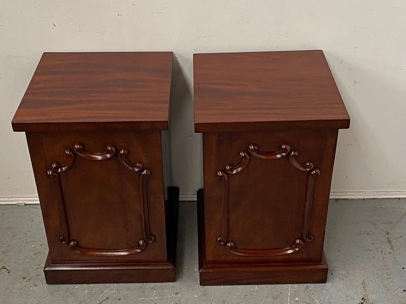 Pair of Regency Scottish mahogany bedside cupboards