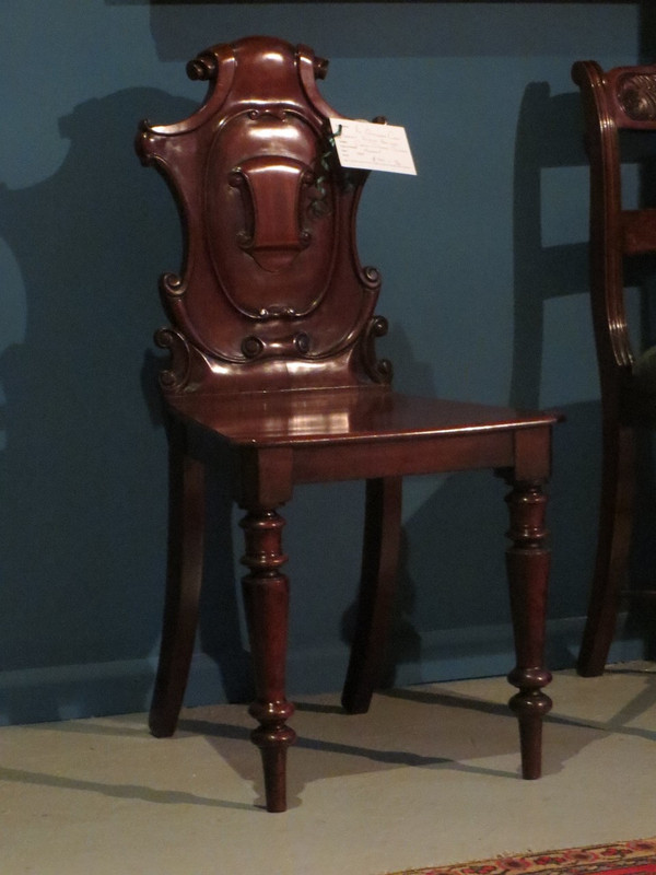 Cuban mahogany hall chair