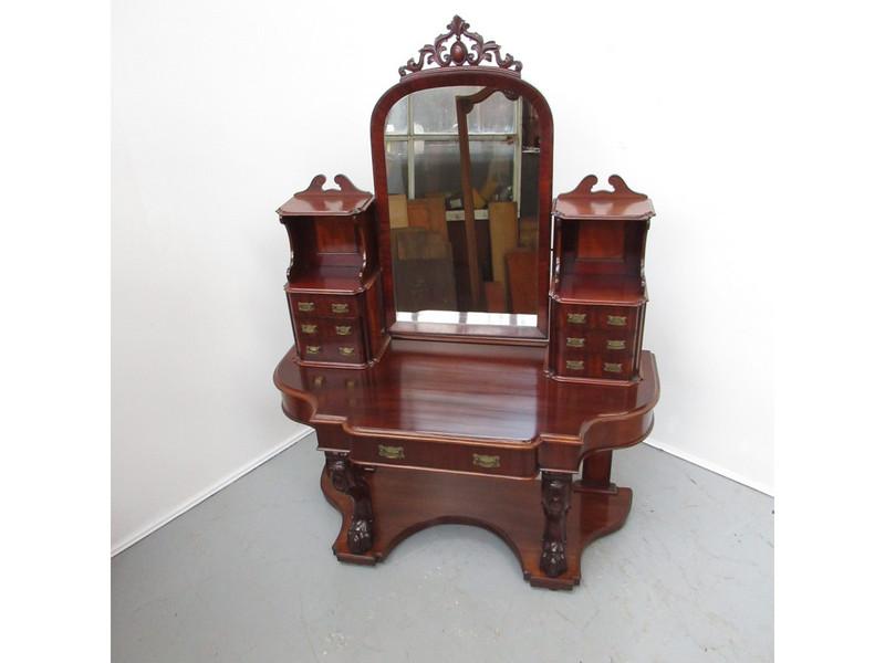 A Victorian mahogany dressing table