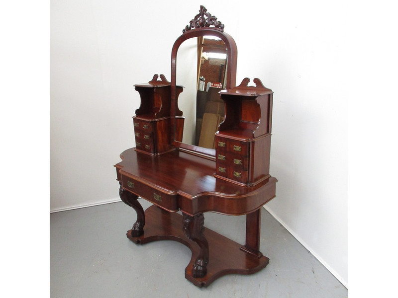 A Victorian mahogany dressing table