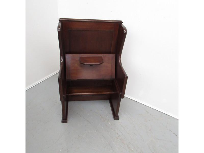 Australian walnut hall seat