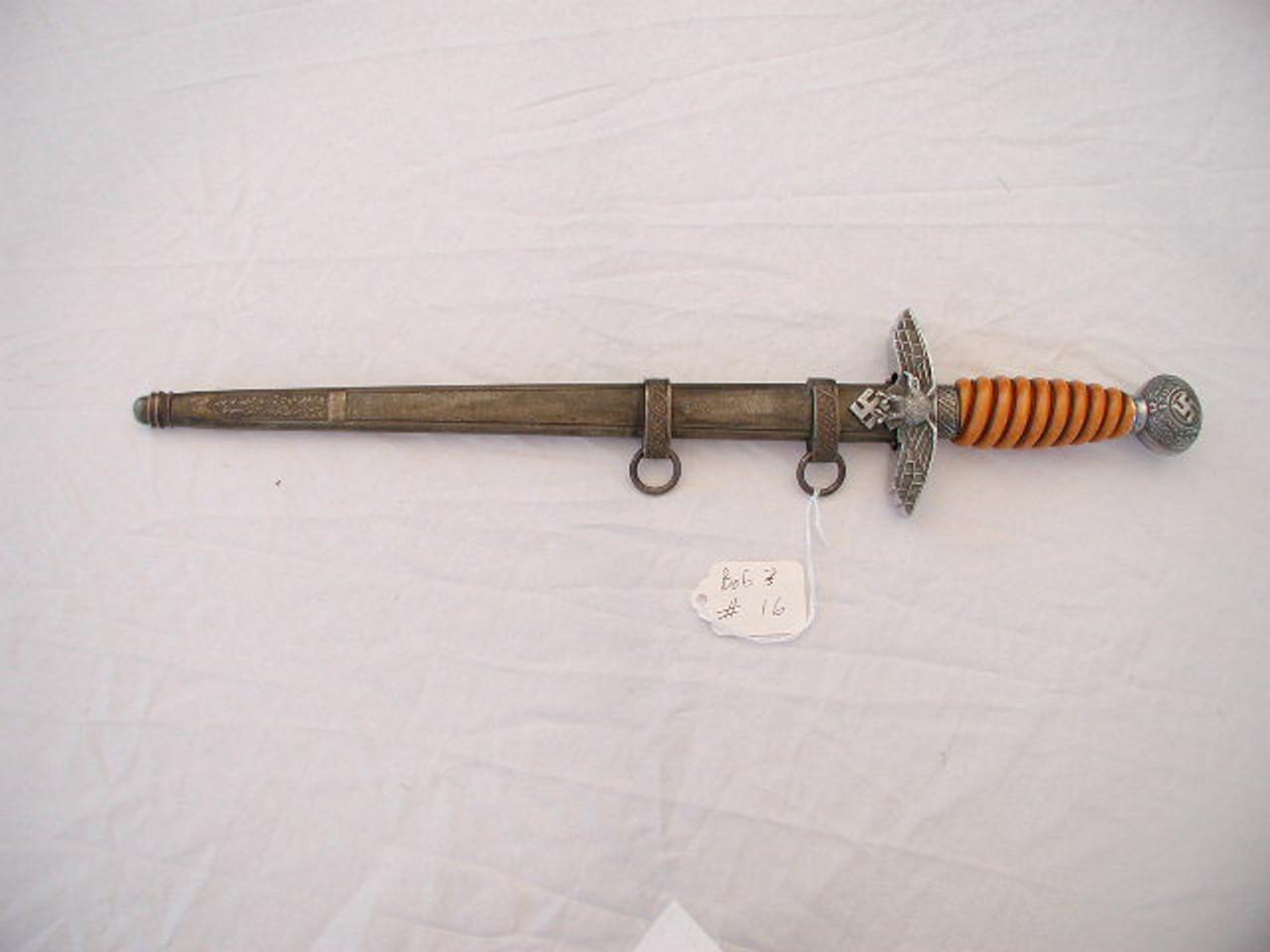 2nd Model luftwaffe Dagger, Maker, ASSO #773 - worlddaggers com