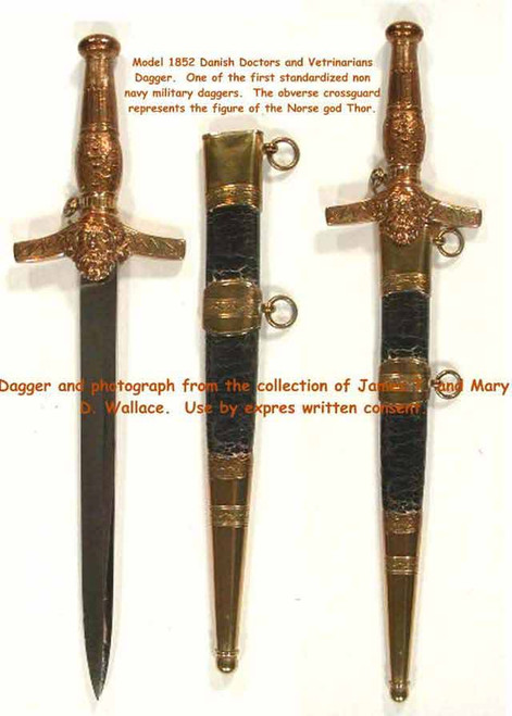 1870 Model Danish Doctors, Vetrinarians Dagger  #93