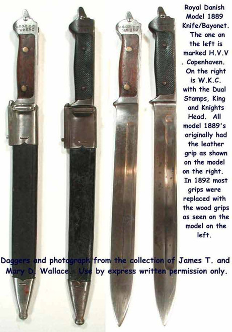 1889 Model Danish Fighting Knife Bayonet  #106