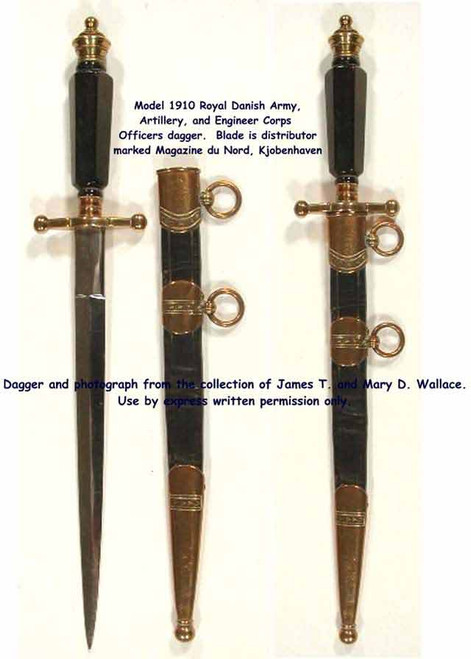 1910 Royal Dainsh Army, Artillery and Engineers Corps Dagger#104