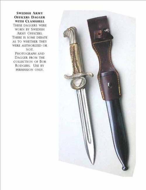 Swedish Army Officers Clamshell Dagger  #235