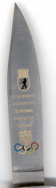1936 OLYMPIC COMMEMORATIVE DJ KNIFE  #337