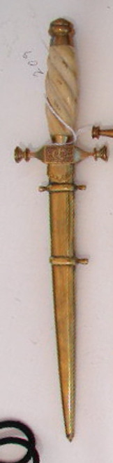 Royal Romanian Naval Dagger with hangers  #483