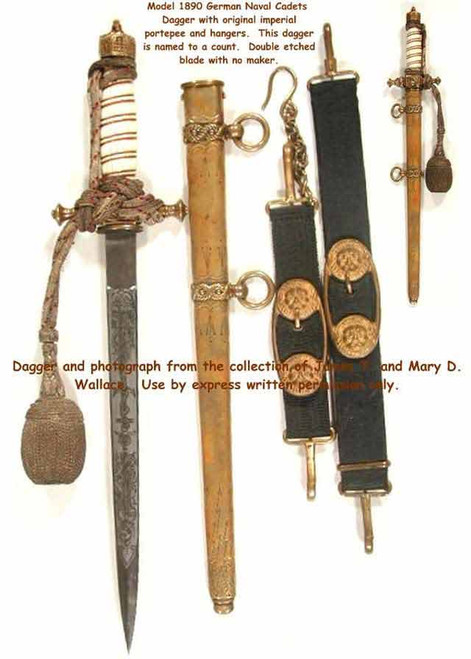 1890 German Naval Cadet Dagger#237