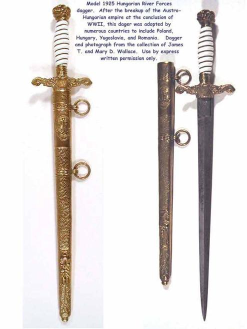 1925 Model Royal Hungarian River Forces Dagger#193