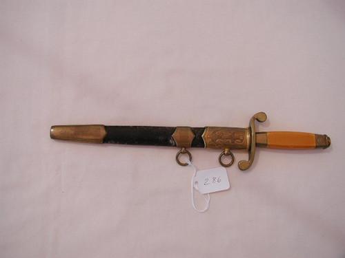 Russian Naval Dagger. No markings. Early dagger. #505