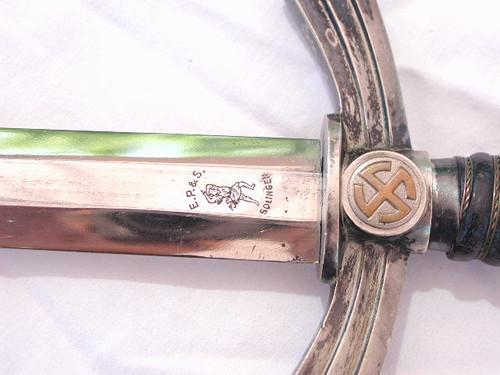 1st model luftwaffe Dagger by EP&S. Dual Etch#455