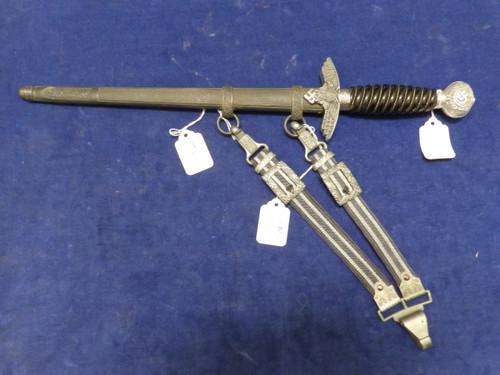 German Luftwaffe 2nd Model dagger with black grip by Robert Klass Solingen