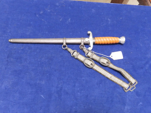 Gustav Spitzer German Army dagger with aluminum fittings and deluxe hanger