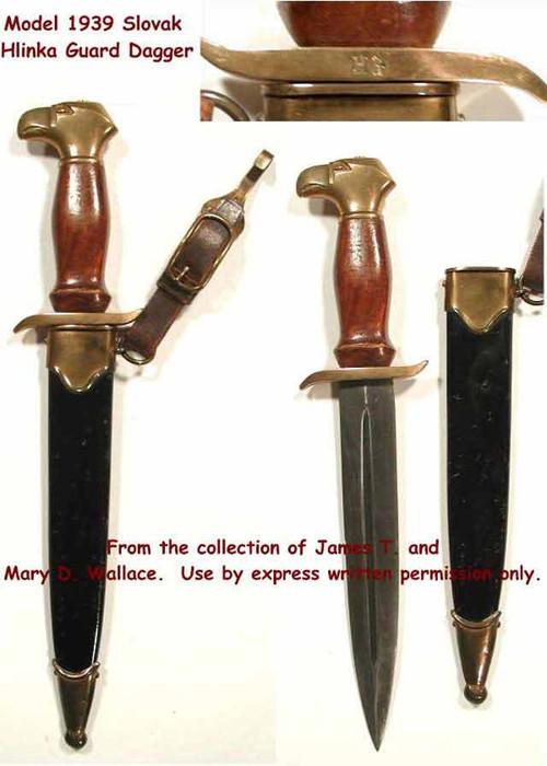 1939 Model Slovak Hlinka Guard Dagger 187 Worlddaggers Com