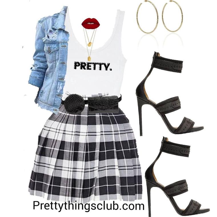 Pretty Girl Sh!t- Pleated Tennis Skirt