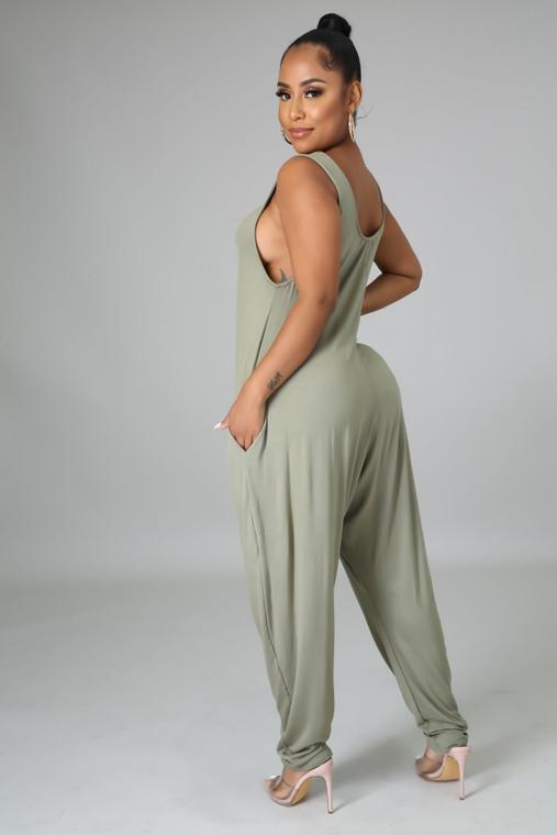 Slay Day- Sleeveless Jumpsuit