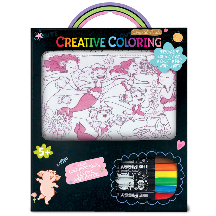 Creative Coloring Carry All Pouch- Mermaid Magic