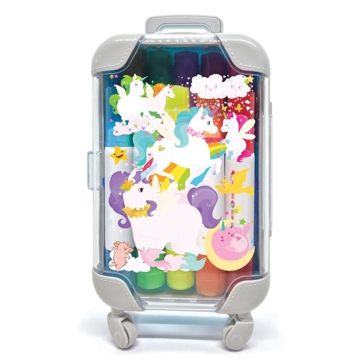 Unicorn Color Pop Stamp n Color Markers