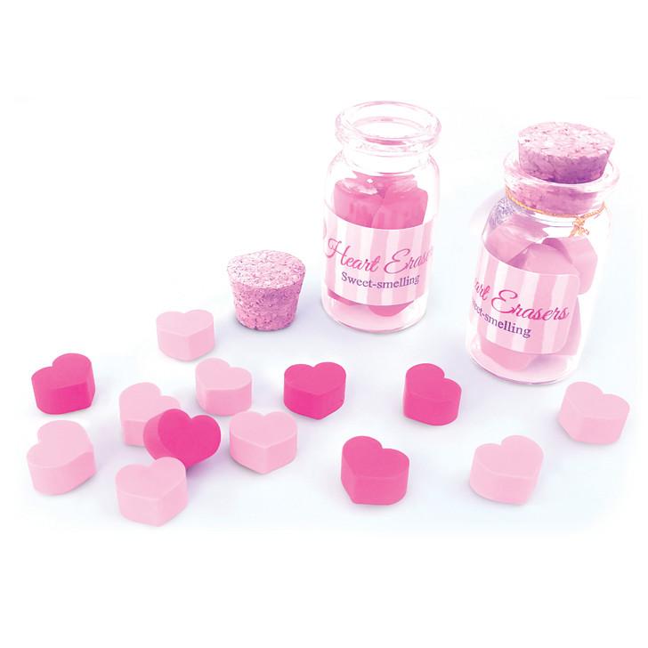 Mini Heart Erasers