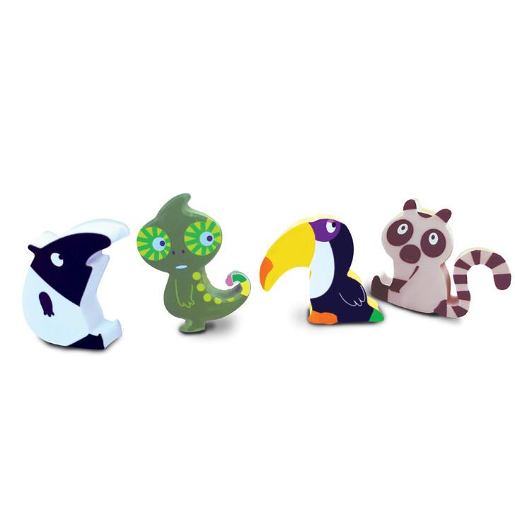 Set of 4 Rainforest Erasers