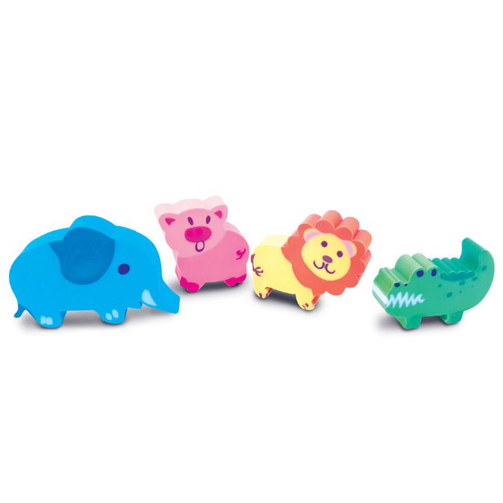 Set of 4 Noah's Ark Erasers