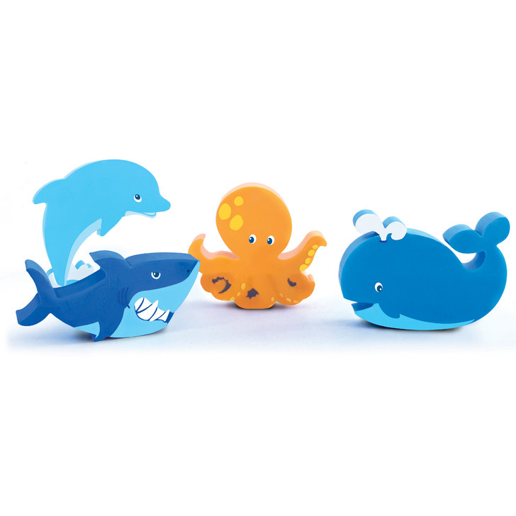 Set of 4 Under the Sea Erasers