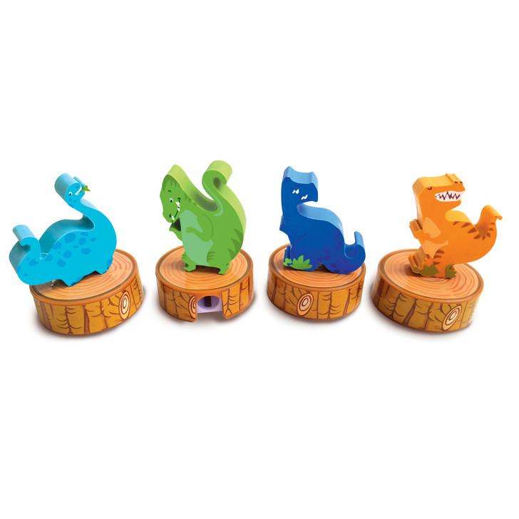 Set of 4 Dinosaur Erasers and Sharpeners
