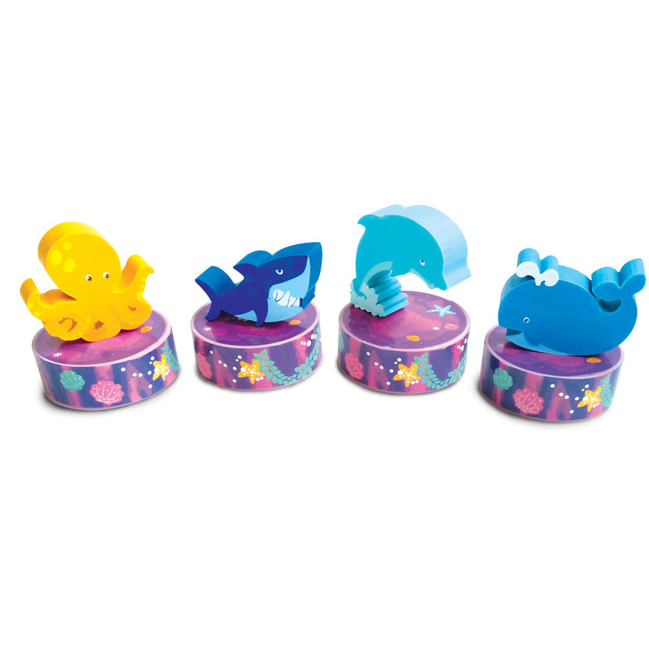 Set of 4 Under the Sea Erasers and Sharpeners