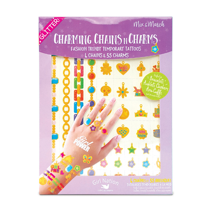 Charming Chains n Charms Temporary Tattoos- Girl Power