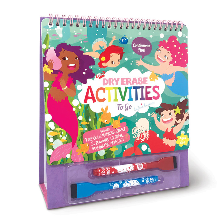 Magical Mermaids Dry Erase Activities To Go with Built-in Easel Stand