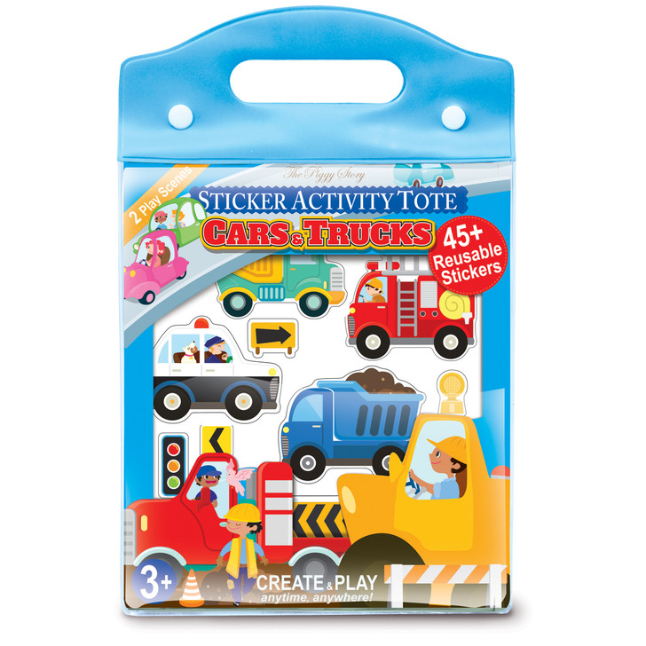 Cars & Trucks Sticker Activity Tote