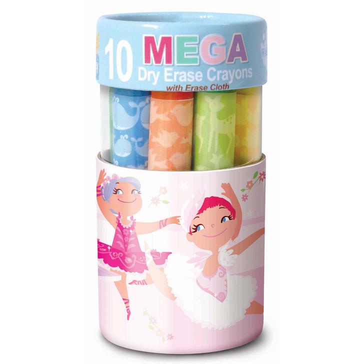 Pretty Ballerinas Dry Erase Mega Crayons
