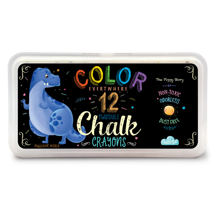 Color Everywhere Chalk Crayons in Dinosaur World Design